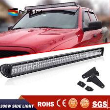 300W 52 Inch LED Light Bar SPOT FLOOD For 2009-2014 Dodge Ram 1500 2500 3500