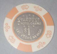 vintage Stardust Hotel Casino Las Vegas Nevada $1 Dollar Poker Chip