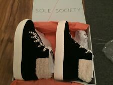 Sole Society Women's Anke Sneaker Boots .  Size 7.  Black Suede.  NEW in box
