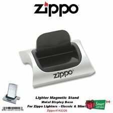 Zippo Magnetic Lighter Display Stand, Silver Color Metal Base #142226