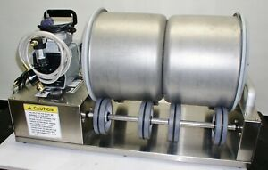 Biro VTS 43 Vacuum Tumbler Commercial Meat Marinator TWIN 15 LB DRUMS WITH PUMP