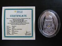 """2012 Nuie Island Faberge """"Moscow Kremlin Egg"""" Proof Silver"""