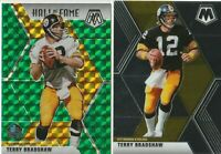 2020 PANINI MOSAIC FOOTBALL T Bradshaw Steelers HALL OF FAME GREEN PRIZM & BASE