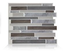 Smart Tiles SM1050-1 SELF-ADHESIVE WALL TILES 1/SHEET MILANO ARGENTO DUAL FINISH