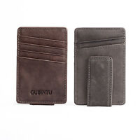 Men Leather Thin Wallet ID Money Credit Card Slim Holder Front Pocket Wallet New