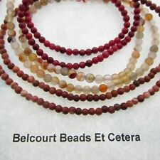 300 - Coral , Agate, Malachite 4mm Round Beads Reds, Coppers, Whites Gemstones