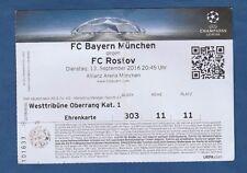Orig.Ticket   Champions League  2016/17  BAYERN MÜNCHEN - FC ROSTOV  !!  SELTEN