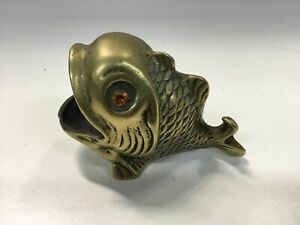 Brass Fish Trinket Dish Ornament #404