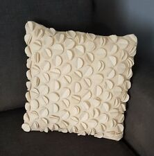 FELT Round Leaves~ Bohemian Style  Cushion~Pre~Filled ~40 x 40cm~Beige