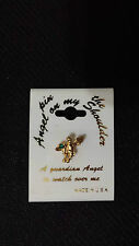 """Lot Guardian Angel Lapel Pin """"A Guardian Angel To Watch Over Me"""" (8 Pcs)"""