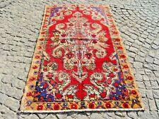Vintage Anatolian Oushak Rug 50'' X 84'' Turkish Oushak Wool Pile Rug Area Rug