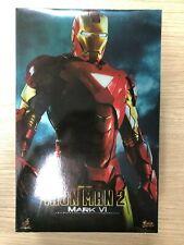 Hot Toys MMS 132 Iron Man 2 Mark VI 6 Tony Stark 12 inch Action Figure USED