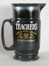 TEACHERS HIGHLAND CREAM SCOTCH WHISKEY WHISKY PEWTER LOOK CERAMIC PITCHER HEAVY
