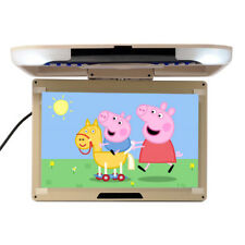 13'' Wide LCD TFT Car Ceiling Flip Down Monitor Auto Roof Mount TV Beige AU