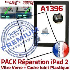PACK Vitre Tactile iPad2 A1396 Noir Écran Verre PREMIUM Assemblé KIT Joint Cadre