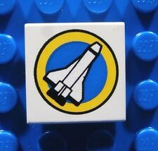 LEGO SPACE SHUTTLE TILE ~ Printed 2x2 Printed Jet Rocket Space Pattern