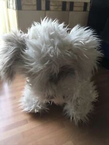 """LARGE FLUFFY DOG SOFT TOY - 2013 ON THE PAW - EXCELLENT CONDITION - 15"""" HIGH"""