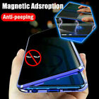 Full Glass Anti Spy Magnetic Case For Galaxy S21 S20 S10 S9 S8 Plus Note 20 10 9