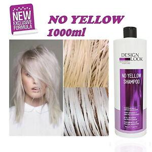 Shampoo Silver AntiGiallo No Yellow - 1000ml - Design Look - uguale come fanola!