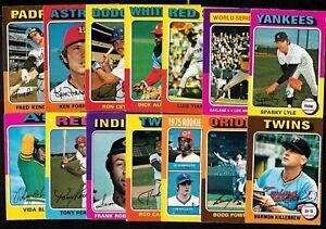 1975 OPC O PEE CHEE TOPPS MLB BASEBALL CARD & ERROR VARIATION 331-660 SEE LIST