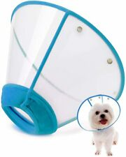 Adjustable Pet Recovery Collar Comfy Cat Cone, Soft Edge Plastic Dog Cone