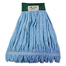 Boardwalk Microfiber Looped-End Wet Mop Head Medium Blue MWTMB