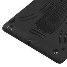 For iPad 2 3 4th Gen - HARD&SOFT RUBBER HYBRID CASE BLACK DUAL LAYER KICK STAND
