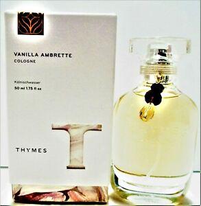 THYMES Spray Cologne VANILLA AMBRETTE, 1.75 oz/50 ml, NEW in Box