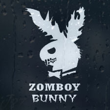 Funny Zombie Play Boy Parody ZombBoy Bunny Car Decal Vinyl Sticker
