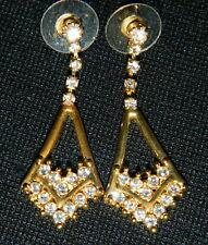 Triangle Design Rhinestone 059#Jq-Earrings Drop Post
