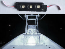 12V 3-SMD WHITE LED WATERPROOF BOAT/DECK/FISHING/CARAVAN LIGHTS 1 MODULES W