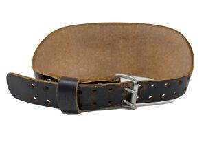 Altus USA -2 Prong Leather Weight Lifting Belt Size Medium 28 -34 Black