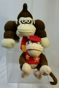 Nintendo Donkey Diddy Kong Video Game Character plush toy doll set