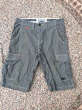 Checked Cargo, Combat Slim Shorts for Men