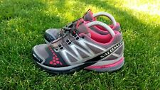 Salomon XR Crossmax 1 Women's Trail Running Gray Pink Shoes Size 9.5 men's 8