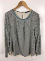 ESPRIT Damen Bluse/Shirt, Größe 40, Mehrfarbig, mit Muster, sehr schick und fein