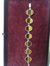 70er Jahre Armband mit Tigerauge, Silber 835, Super Schön