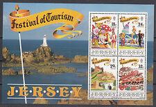 Jersey  Block 5 postfrisch Tourismus Veranstaltungen und Urlaubsgestaltung