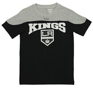 "Reebok NHL Youth Los Angeles Kings Primary Logo Word Mark ""Hockey"" T Shirt"
