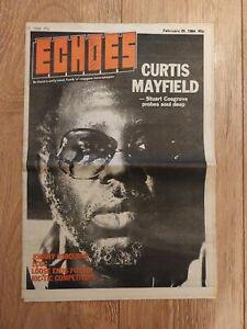 ECHOES MAGAZINE 25 FEBRUARY 1984 CURTIS MAYFIELD LCGC JOHNNY OSBOURNE