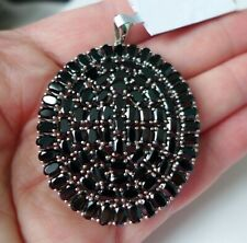 26.66Ct Natural Black Spinel 925 Sterling Silver Pendant, Certificate