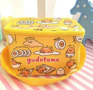 Gudetama egg PU keep warm square lunch bag handbag storage bags fashion gift