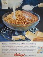 1965 Kelloggs Rice Krispies Cereal Milk Sugar Banana Original Print Ad