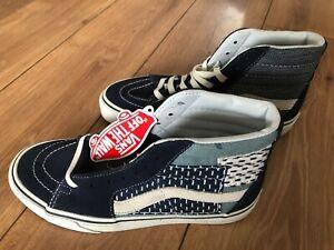 Women's Vans  Blue Milton High Top Trainer Sneakers Size UK 3.5 EU 36 New