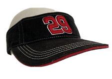 vintage KEVIN HARVICK Visor #29 NASCAR Autograph Black/red adjustable hat