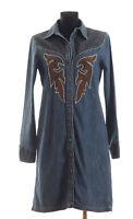 ESCADA SPORT Women's long sleeved Denim Dress Size 38 * Made in Italy