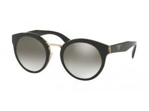 Prada Sunglasses PR05TS NAI5O0 53 Black Frame Gray Mirror Lenses