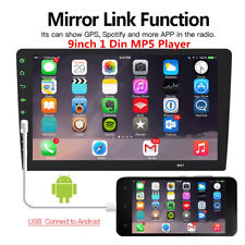 "Bluetooth 1 DIN 9"" Car Stereo Radio MP5 FM Player Android/IOS USB Mirror Link"