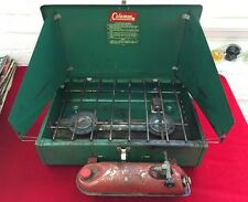 Vintage Coleman 425e Two Burner camping stove in original box