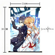 Anime Sword Art Online Kazuto & Asuna Home Decor Poster Wall Scroll 21*30cm 09